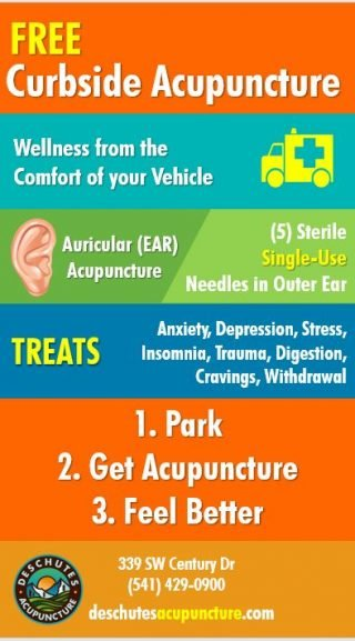 Curbside acupuncture at Deschutes Acupuncture